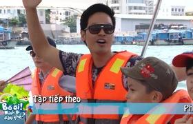 MC Phan Anh hoảng sợ gào thét vì không biết bơi