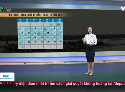 Bản tin thời tiết 6h30 - 25/10/2016