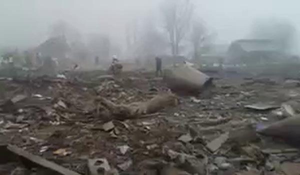 Clip quay hiện trường vụ máy bay thảm khốc