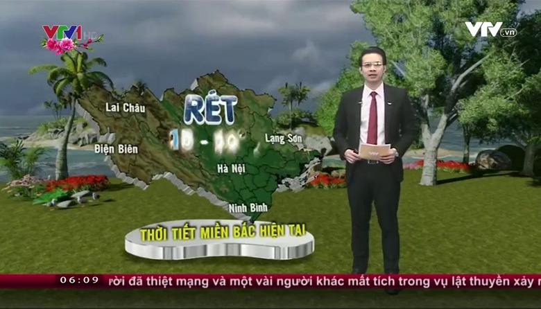 Bản tin thời tiết 6h10 - 24/01/2017