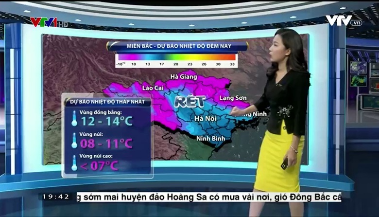 Bản tin thời tiết 19h45 - 25/02/2017