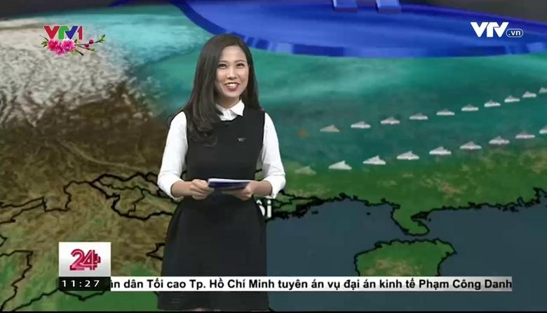 Bản tin thời tiết 11h30 - 24/01/2017