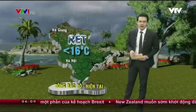 Bản tin thời tiết 6h10 - 17/01/2017
