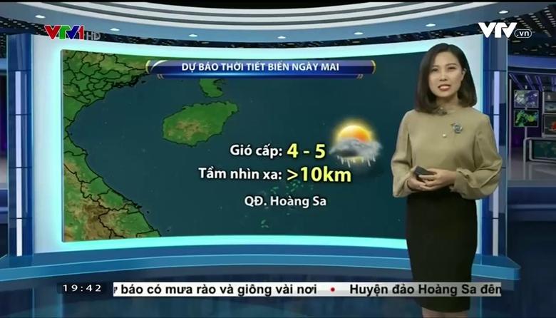 Bản tin thời tiết 19h45 - 18/01/2017