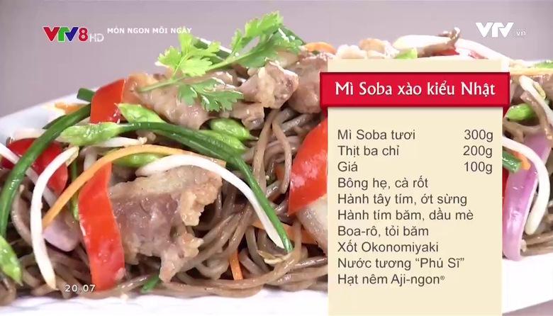 Món ngon mỗi ngày: Mì Soba xào kiểu Nhật