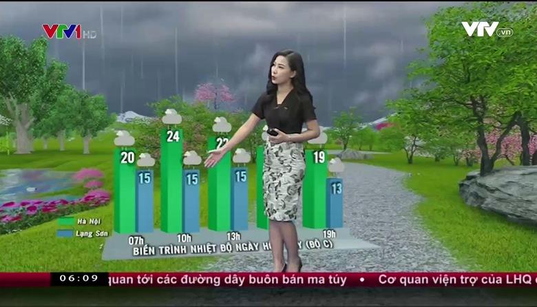 Bản tin thời tiết 6h10 - 23/02/2017