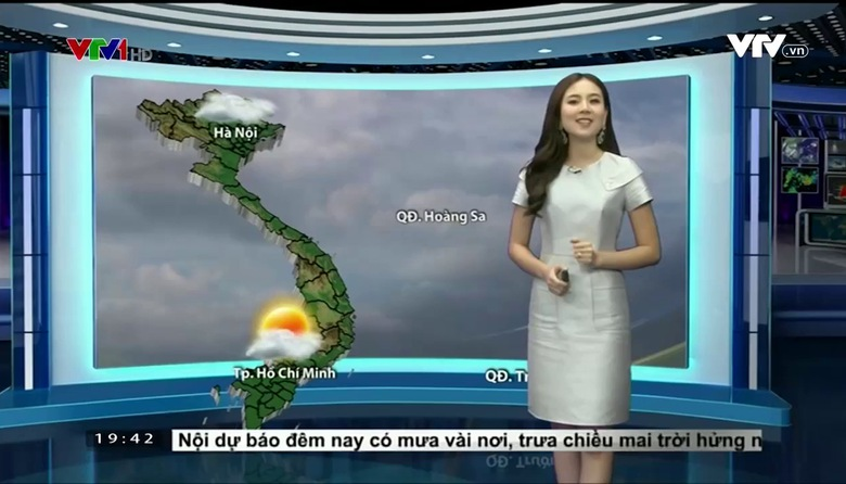 Bản tin thời tiết 19h45 - 21/01/2017