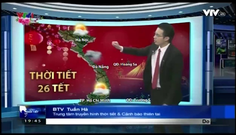 Bản tin thời tiết 19h45 - 23/01/2017