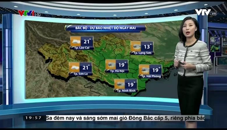 Bản tin thời tiết 19h45 - 16/01/2017