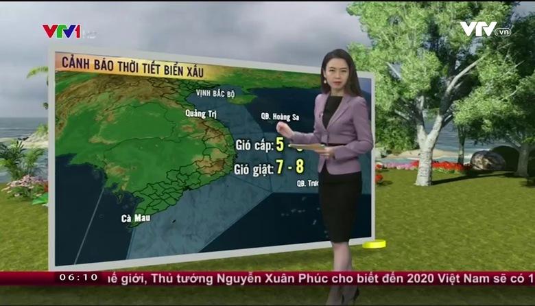 Bản tin thời tiết 6h10 - 22/01/2017