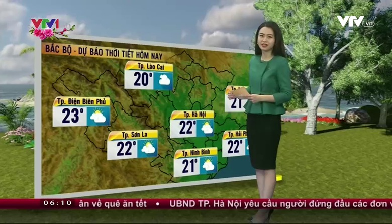 Bản tin thời tiết 6h10 - 23/01/2017
