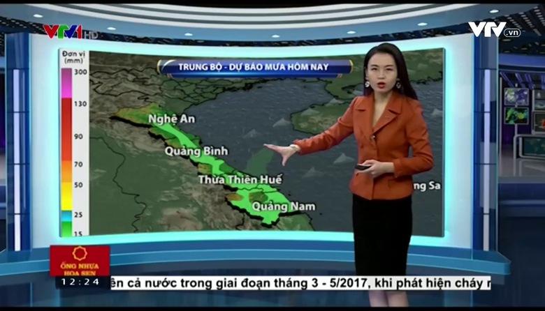 Bản tin thời tiết 12h30 - 26/02/2017