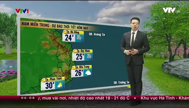 Bản tin thời tiết 6h10 - 27/02/2017